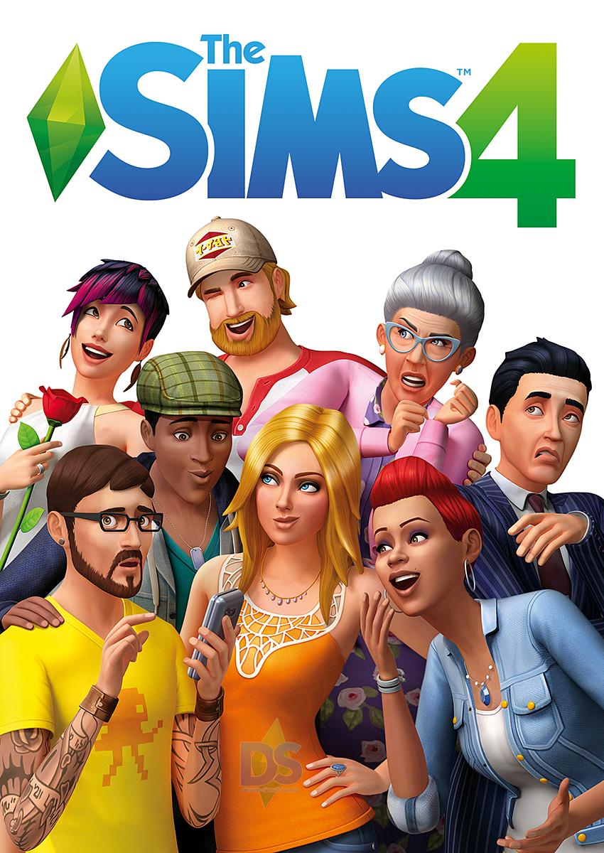 jaquette du jeu vidéo Les Sims 4