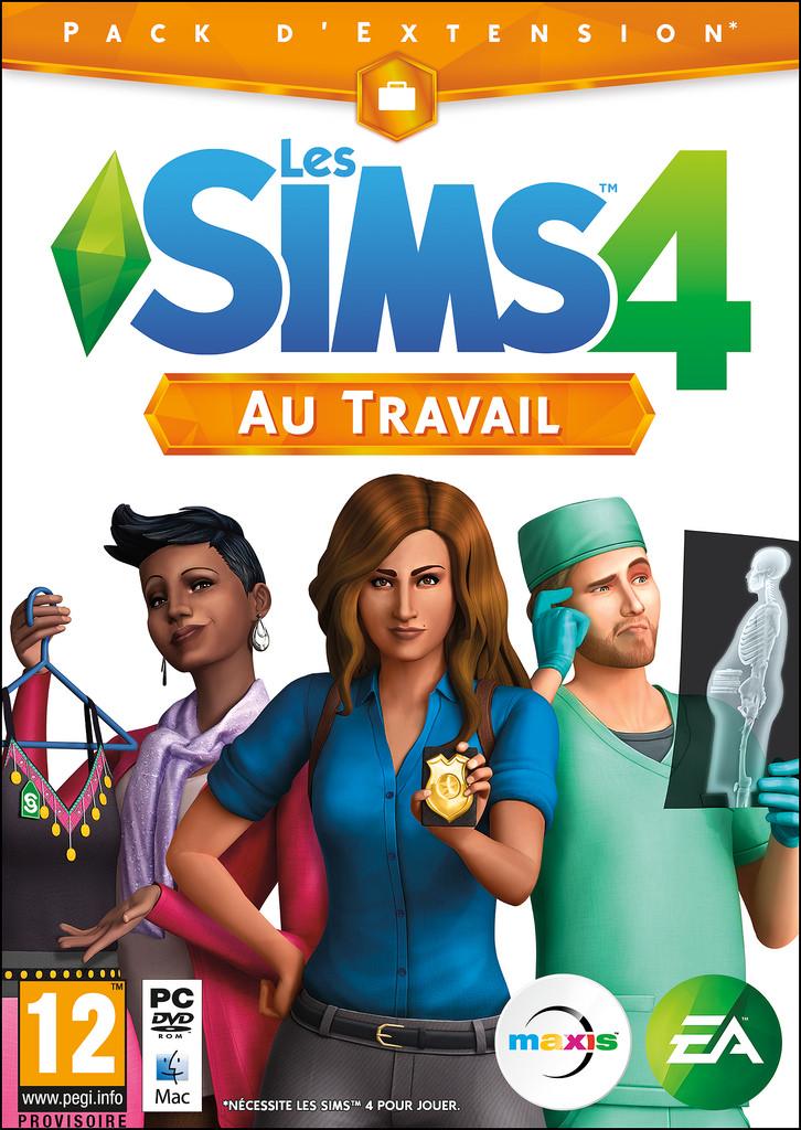 jaquette du jeu vidéo Les Sims 4: Au Travail